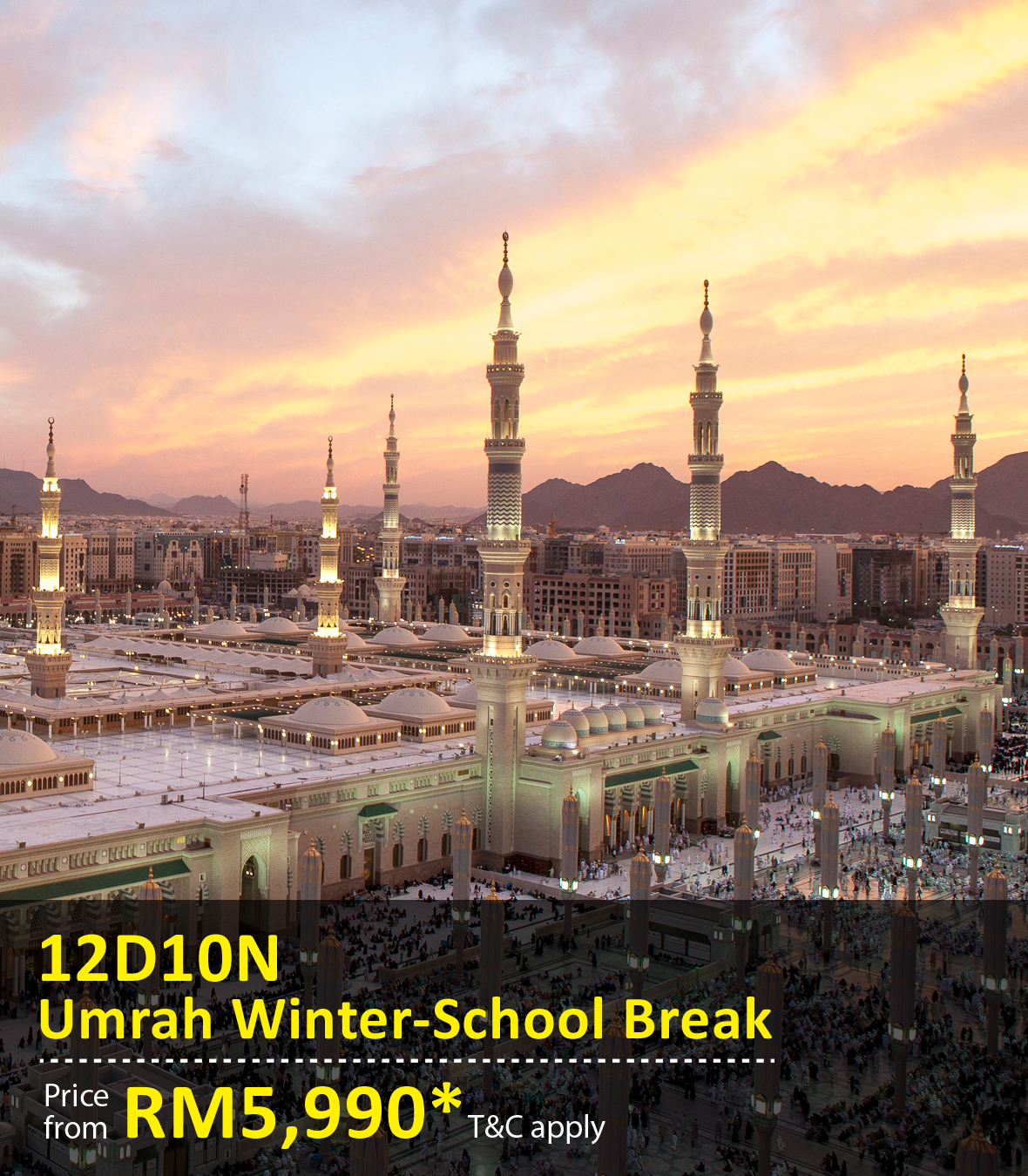 UOB Special Promo Package: 12 Days 10 Nights Umrah Winter School Break